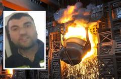1600 derecelik çelik eritme kazanına atlayarak intihar etti