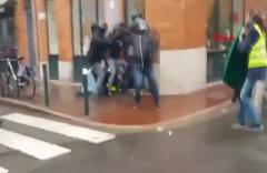 Fransız polisinden, sarı yelekli eylemciye sert müdahale