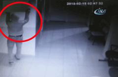 Sağlık Merkezi'nden televizyon çaldı  kameralara takıldı