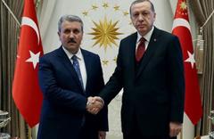 Erdoğan ile Destici, Beştepe'de görüştü! BBP 'görünmez ortak' mı?