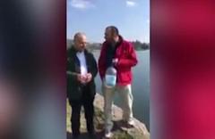 Sapanca gölünü mayalamaya çalışan vatandaş