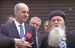 Kültür ve Turizm Bakanı Numan Kurtulmuş Ortodoks Süryani Kilisesini ziyaret etti