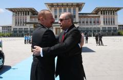 Erdoğan, Aliyev'i böyle karşıladı! Beştepe'de dikkat çeken şarkı
