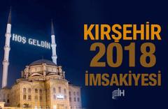 Kırşehir İmsakiye 2018 Diyanet sahur imsak vakti iftar saatleri