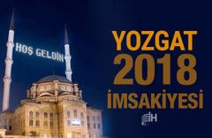 Yozgat İmsakiye 2018 Diyanet sahur imsak vakti iftar saatleri