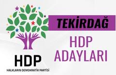 HDP Tekirdağ milletvekili adayları 27. dönem listesi