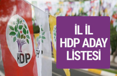 HDP milletvekili adayları 2018 isim listesi tüm iller