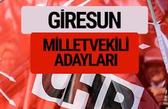 CHP Giresun milletvekili adayları isimleri YSK kesin listesi