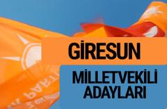 AKP Giresun milletvekili adayları 2018 YSK AK Parti kesin listesi