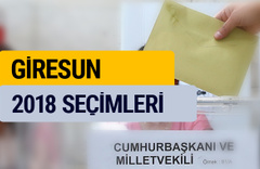 Giresun genel seçim sonuçları YSK 2018 oy oranı