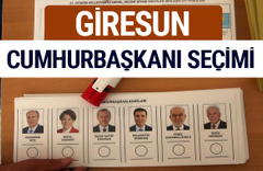 Giresun Cumhurbaşkanları oy oranları YSK Sandık sonuçları