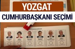 Yozgat Cumhurbaşkanları oy oranları YSK Sandık sonuçları
