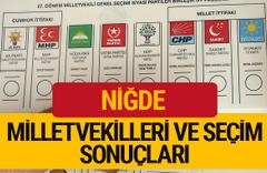 2018 Niğde Seçim Sonuçları Niğde Milletvekilleri 27. dönem