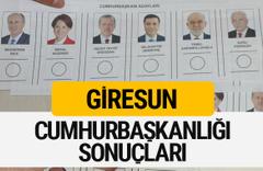 Giresun Cumhurbaşkanlığı seçim sonucu 2018 Giresun sonuçları