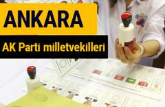 AK Parti Ankara Milletvekilleri 2018 - 27. dönem AKP isim listesi