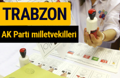 AK Parti Trabzon Milletvekilleri 2018 - 27. dönem AKP isim listesi