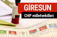 CHP Giresun Milletvekilleri 2018 - 27. dönem Giresun listesi