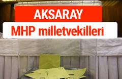 MHP Aksaray Milletvekilleri 2018 -27. Dönem listesi