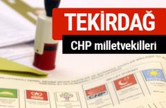 CHP Tekirdağ Milletvekilleri 2018 - 27. dönem Tekirdağ listesi