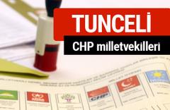 CHP Tunceli Milletvekilleri 2018 - 27. dönem Tunceli listesi