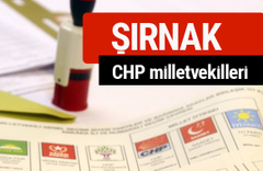 CHP Şırnak Milletvekilleri 2018 - 27. dönem Şırnak listesi