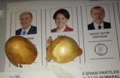 Seçimden en ilginç oy pusulası fotoğrafları!