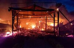 10 iş yeri yandı! Kundaklama şüphesi