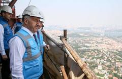 Çamlıca Seyir kulesi ne zaman bitecek Ahmet Arslan gezdi