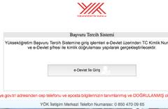 Lisans tamamlama başvuru sayfası YÖK e devlet şifresiyle giriş