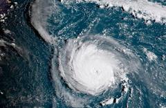 ABD'yi yerle bir edebilir! Florance kasırgasının uydu görüntüsü dehşet