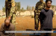 HTŞ İdlib'te 5 IŞİD militanını açık alanda kurşuna dizerek öldürdü