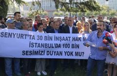 Esenyurt'taki konut mağdurları eylem yaptı