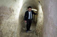 Yozgat'ta gizli kalan yer altı şehrine girildi