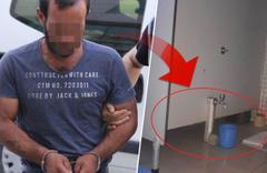 Kadınlar tuvaletinde röntgencilik yaparken yakalandı