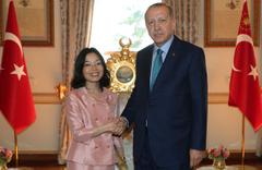 Erdoğan Japonya Prensesi Mikasa'yı kabul etti