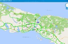 İstanbul yeşile büründü trafikte kimse yok