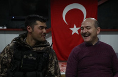 Süleyman Soylu yeni yıla Yüksekova'da girdi