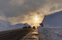 Antalya-Konya karayoluna kar yağışı