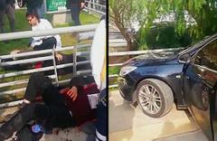 Kadın sürücü yayaların arasına daldı: Yaralılar var!