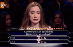 Kim Milyoner Olmak İster'de Atatürk sorusuna joker kullanan yarışmacı şoke etti