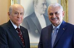MHP lideri Bahçeli'den Binali Yıldırım'a ziyaret