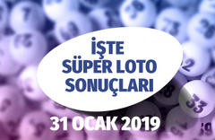 31 Ocak Süper Loto sonuçları açıklandı Çıldırtan rekor ikramiye
