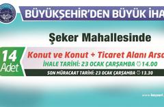 Kayseri Büyükşehir'den arsa ihalesi