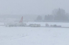 THY uçağı kar nedeniyle pistten çıktı!