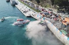 İstanbul Boğazı'nda gezi teknesi yangını!