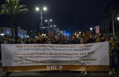 Yunanistan'da Venezuela için ABD karşıtı gösteri!