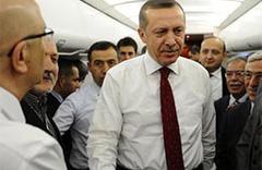 Erdoğan uçakta türkü söyledi