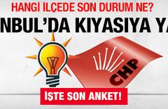 İstanbul'un ilçelerinde son anket!