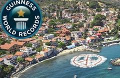 Mudanya'ya 'Barış sembolü' rekoru geldi
