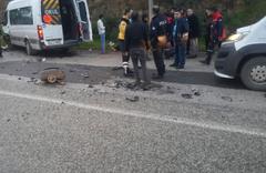 Bodrum'da öğrenci servisi ile otomobil çarpıştı! Yaralılar var